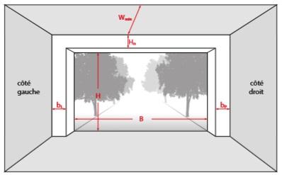 schema ecoinçons retombée linteau porte garage renovafenetre.fr